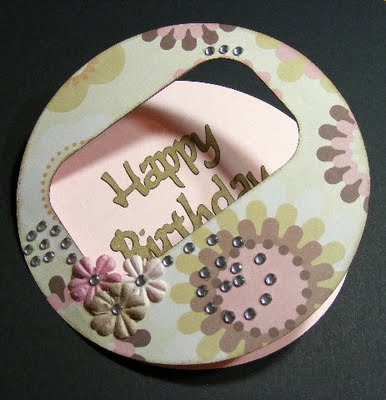 Happy Birthday circle card 2