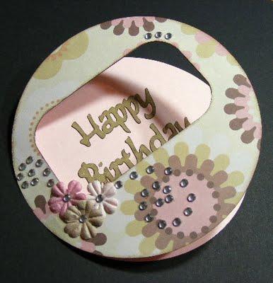 Happy Birthday circle card 2