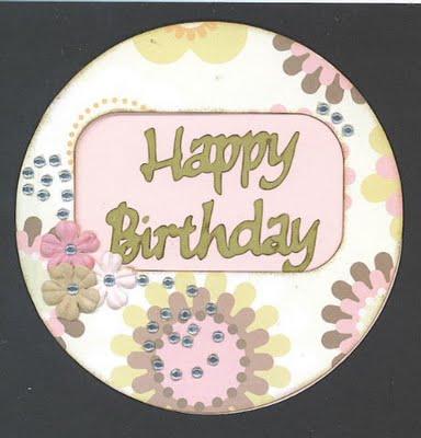 Happy Birthday circle card 1