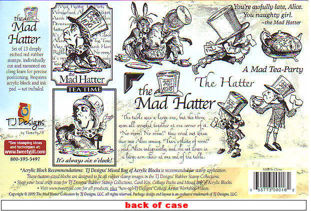 Mad hatter stamps